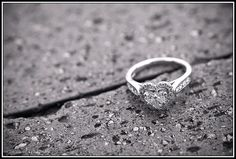 I would love a heart shaped engagement ring that looked like this one day :)
