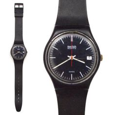 Vintage 80s #swatch oxford navy #gn401 quartz swiss #wrist watch,  View more on the LINK: 	http://www.zeppy.io/product/gb/2/141712272914/