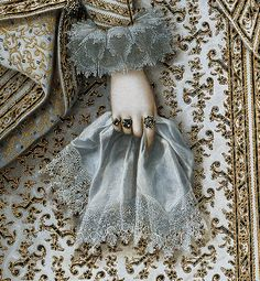 Detail of Portrait of Elisabeth of France, 1620, by Rodrigo de Villandrando (1588-1622)