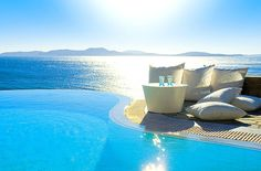 Swim off the edge of your pool and into the ocean.