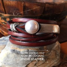Joanna Gaines Jewelry Leather wrap bracelet with by IndieLeather
