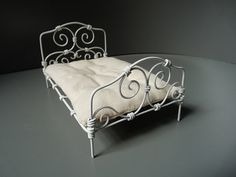 Miniature Doll Bed French style  in 1/12 scale by buildingIDEA, $39.00