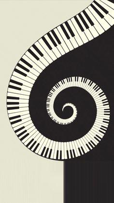 Black and white Rotating piano HD iPhone 5 Wallpapers-Sci . Musik Wallpaper, Iphone 5 Wallpaper, Best Iphone Wallpapers, Piano Art, Piano Music, Music Artwork, Art Music, Music Decor, Musik Illustration