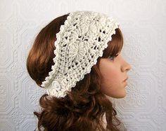 free crochet ear warmer headband pattern - Google Search