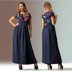 2015 sólido más el vestido maxi largo 5xl summera más el tamaño de vestidos para mujer algodón manga corta 3xl 4xl 5xl 6xl en Vestidos de Moda y Complementos Mujer en AliExpress.com | Alibaba Group