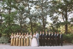 Flickr. Wedding party, ladies in gold shimmer and men in tuxedos.  Curescu Wedding Photography