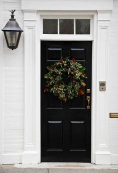 Charleston Christmas 4 3 Black Front Doorsentry Doorsentrancedoorwayhouse