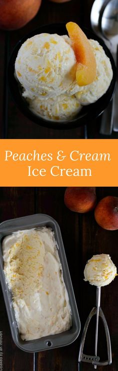 This no churn peaches and cream ice cream is made with only 5 ingredients. It's so simple and delicious, you'll crave it all summer long! via @introvertbaker