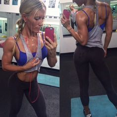 """Rebekah Willich Ifbb Pro on Instagram: """"Morning swass from bustin ass...Dont be afraid to get a little messy! In 90% of all cases, sweat is a good thing #bootysweat #sweat #workout #fitchick #work #fitness #strong #girlswholift #paigehathaway #strong #strongnotskinny #girlsgeneration #dye #shesquats #love #blonde"""""""