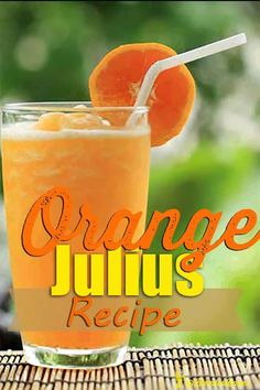 Smooth and creamy, this delicious drink is very similar to the one served at the mall but no egg! Our Orange Julius is made with a Blendtec or Vitamix! Fruit Smoothie Recipes, Good Smoothies, Flaxseed Smoothie, Orange Julius, Orange Smoothie, Nutrition Classes, How To Get Abs, Yummy Drinks, Yummy Food