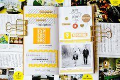 {March Traveler's NotebOok spread}