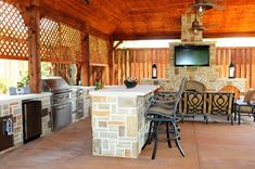 Covered Outdoor Kitchens   Outdoor Living Areas