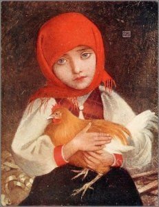 Portrait painted in Slovakia during a trip in 1905 with Adrian Stokes by Marianne Stokes Illustrations, Illustration Art, Austria, Chicken Images, Art Through The Ages, Great Works Of Art, Pre Raphaelite, Portraits, Figure Painting