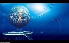Modern Atlantis-inspired City Plan