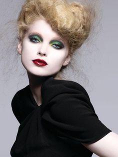 Green eyes & bold lips
