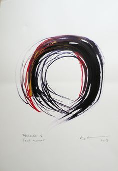 Original enso paintings for sale by Kaz Tanahashi portray the completeness of the perfect and imperfect in the zen circle. Japanese Patterns, Japanese Painting, Paintings For Sale, Paper Size, Zen, Im Not Perfect, Circles, Abstract, Artwork