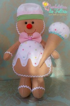 Gingerbread Crafts, Gingerbread Cookies, Christmas Decorations, Christmas Ornaments, Holiday Decor, Wool Felt, Christmas Time, Doll Clothes, Snowman
