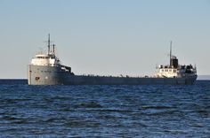 """St Mary's Challenger. Oldest working freighter on the """"Great Lakes""""."""