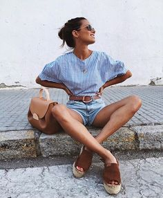 Summer Fashion Trends You Must Try In 2019 - Page 4 of 4 - Stylish Bunny Summer Fashion Trends, Spring Summer Fashion, Spring Outfits, Looks Chic, Looks Style, Look Fashion, Fashion Outfits, Womens Fashion, Luxury Fashion