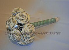 Zipper rosette bridal bouquet