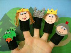 Castle Fairytale Finger Puppets Felt Finger by SoSimpleSoSweet, $16.99