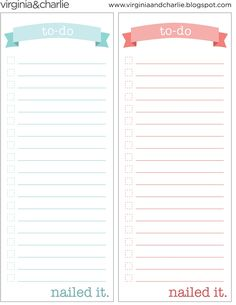 Things To Do Template PDF | Virginia and Charlie: Printable To-Do List