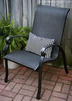 Striped Pillow Chair Fern