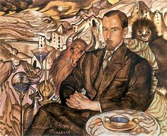 Włodzimierz Nawrocki's Portrait, 1926 by Stanislaw Ignacy Witkiewicz (aka Witkacy) on Curiator, the world's biggest collaborative art collection. Tango, Digital Museum, Abyssinian, Collaborative Art, Art And Illustration, Illustrations, Surrealism, Weird, Sketches
