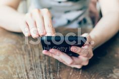hands woman using phone in coffee shop royalty-free stock photo