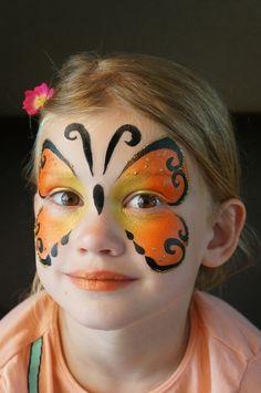 Schritt für Schritt Make-up Beispiel Einfacher Schmetterling, Diy Maquillage, Maquillage Halloween, Animal Face Paintings, Animal Faces, Face Painting Tutorials, Face Painting Designs, Kids Makeup, Eye Makeup, Butterfly Face Paint
