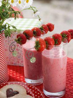 la decoración de mis mesas: Decoración de mesas con fresas