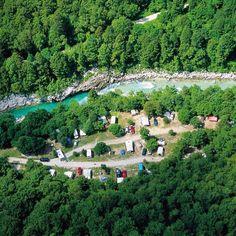 Kamp Koren Slovenia, at the Soca river.