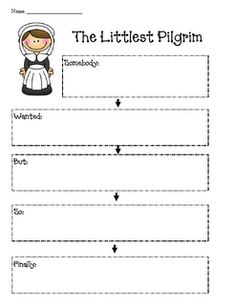 """SWBSF - Somebody Wanted But So Finally for """"The Littlest Pilgrim"""" freebie"""