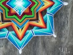 Ally of the Dream Mandala Ojos de Dios 11 inches by YoleMandalas