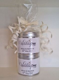 Wedding Day Personalised Scented Candle