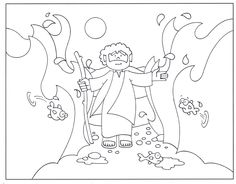 moses and the red sea printables | Moses red sea coloring ...