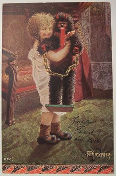Gruß vom Krampus and Happy Holidays, everyone! The images you see above are all vintage Krampus postcard. Merry Christmas, Vintage Christmas Cards, Vintage Holiday, Vintage Cards, Christmas And New Year, Vintage Postcards, Xmas, Antique Christmas, Vintage Stuff