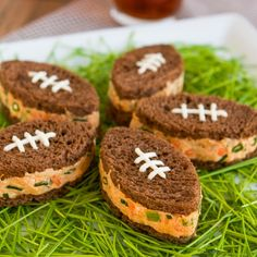 19 Football-Shaped Snacks to Tackle for the Super Bowl via Brit + Co