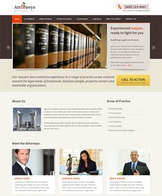 Create a professional and elegant website for your law firm with Attorneys, a Wordpress theme for lawyers. Professional Wordpress Themes, Premium Wordpress Themes, Lawyer Marketing, Lawyer Website, Call To Action, Website Template, Lawyers, Web Design, Good Things