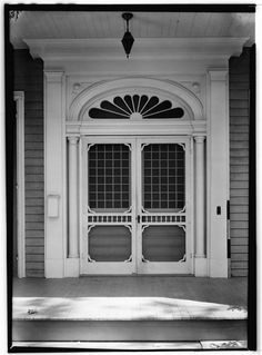 Detail of Entry - Brown-Dennison-Moore House, Galveston, Texas, ca. 1858 - The Victorian / Georgian mansion was demolished in 1975...
