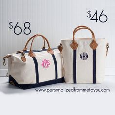 Special introductory price! Monogrammed Weekender Duffel Bag $68 {reg. $98} 6 colors & Monogrammed Carryall Tote Bag $46 {reg. $84} 2 colors! Get these great bags at an amazing price ends Sunday 10/19/14
