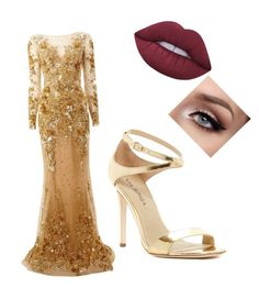 """Untitled #15"" by s-dejesus on Polyvore featuring Zuhair Murad, Via Spiga and Lime Crime"