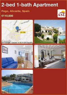 2-bed 1-bath Apartment in Pego, Alicante, Spain ►€110,000 #PropertyForSaleInSpain