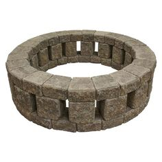 Stone Fire Pit Kit, Fire Pit Area, Diy Fire Pit, Fire Pit Backyard, Best Fire Pit, Cool Fire Pits, Backyard Seating, Cheap Fire Pit, How To Build A Fire Pit