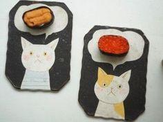 ネコちゃんの頭の中はウニとイクラ。。 こんな風にお寿司が出てきたら、可愛すぎてキュンとしてしまいますね♪