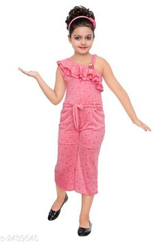 Jumpsuits Stunning Kid's Girl's Jumpsuit Fabric: Polyester Blend Sleeves: Sleeves Are Not Included Size:Age Group (18 Months - 24 Months) - 20 in Age Group (2 - 3 Years) - 22 in Age Group (3 - 4 Years) - 24 in Age Group (4 - 5 Years) - 26 in Age Group (5 - 6 Years) - 28 in Age Group (6 - 7 Years) - 30 in Type:Stitched  Description:It Has 1 Piece of Kid's Girl's Jumpsuit Work: Printed Country of Origin: India Sizes Available: 3-4 Years, 4-5 Years, 5-6 Years, 6-7 Years, 7-8 Years, 8-9 Years *Proof of Safe Delivery! Click to know on Safety Standards of Delivery Partners- https://ltl.sh/y_nZrAV3  Catalog Rating: ★4.1 (2098)  Catalog Name: Stunning Kid's Girl's Jumpsuits Vol 3 CatalogID_327004 C62-SC1156 Code: 992-2439545-