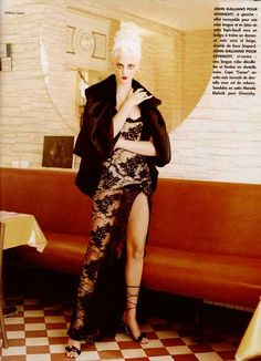 'Faisons un Rêve', Photographer: William Laxton, L'Officiel 1996.  John Galliano for Givenchy Fall Winter 1996 Haute Couture