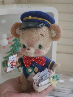 MAIL~Bear Mailman art by osito cartero
