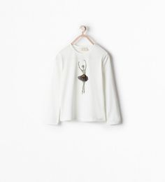 Image 1 of T-SHIRT WITH DANCER APPLIQUE from Zara