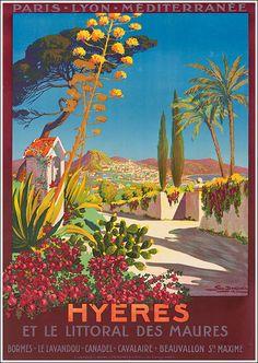 Vintage PLM Travel Poster: Hyères-Dorival, France